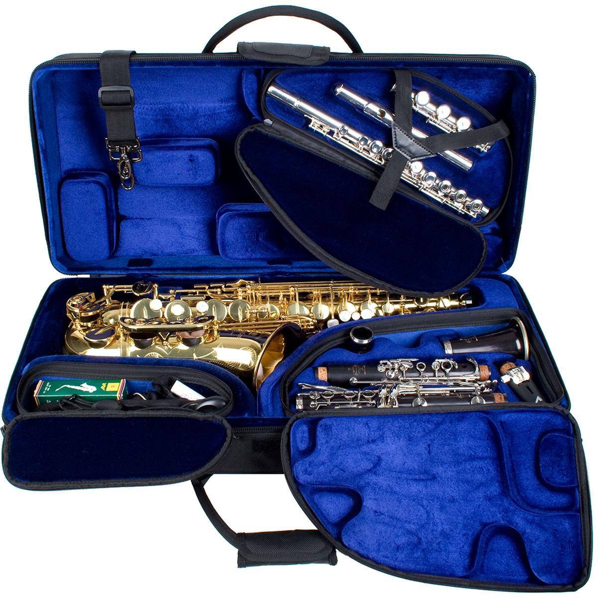 Protec PBTRIALT Tri Pac Woodwind Combination Case