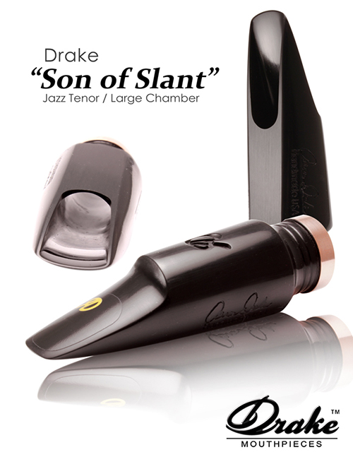 Drake 'Son Of Slant' Ebonite Tenor Mouthpiece